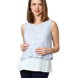 Γυναικεία Αμάνικη Μπλούζα με Ρίγες
