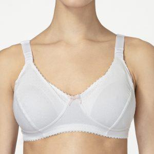 Γυναικείο Σουτιέν Θηλασμού Βαμβακερό Λευκό Κουπ C