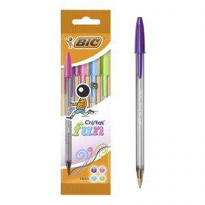 Bic Στυλό Cristal Fine Pouch/4 Μπλε 872721