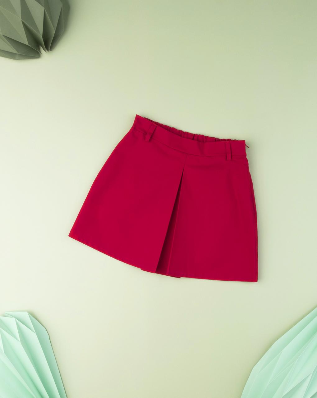 Φούστα Ποπλίνα Με Πιέτα Ροζ για Κορίτσι