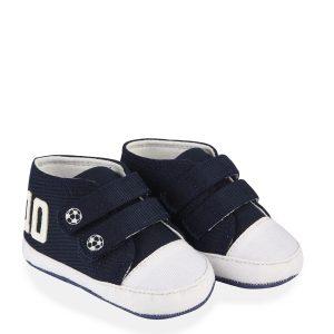 Παπούτσια Twill με Βέλκρο για Αγόρι