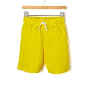 Βερμούδα Jersey Basic Κίτρινη για Αγόρι