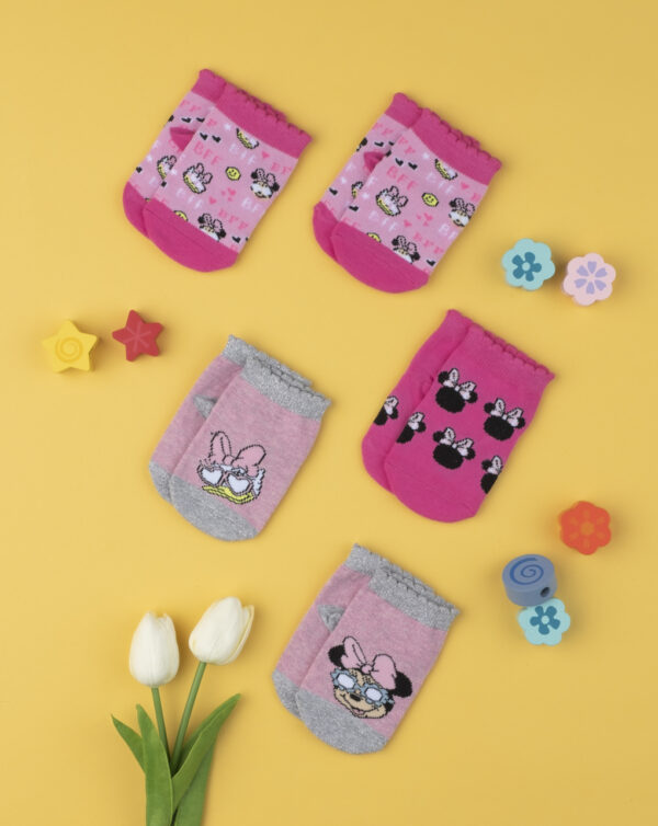 Καλτσάκια Κοντά πακέτοx5 Minnie για Κορίτσι