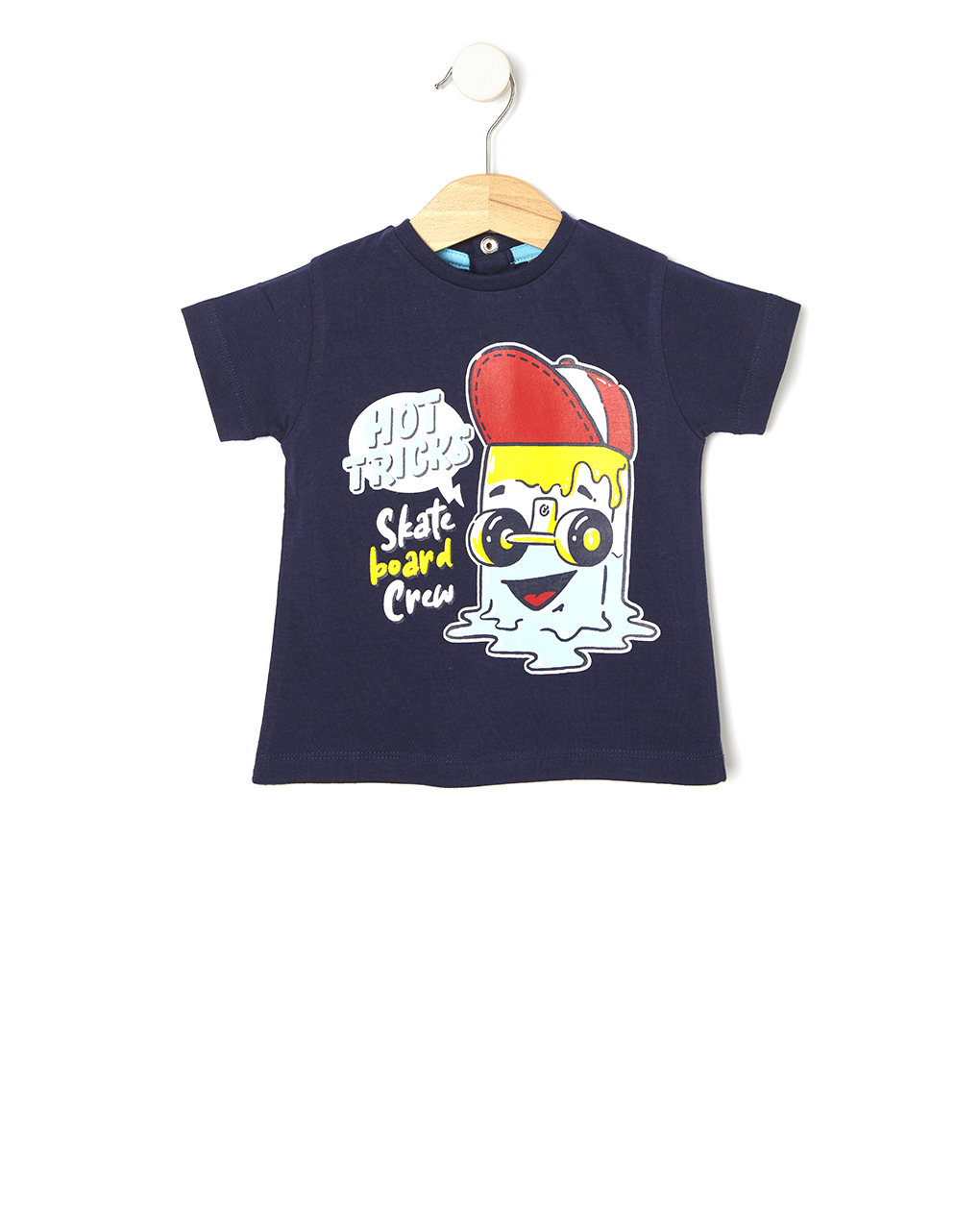 T-shirt Μαύρο με Στάμπα για Αγόρι