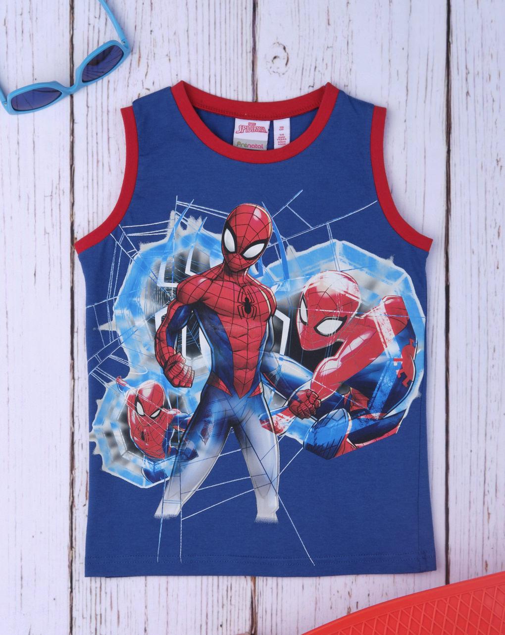 Αμάνικο Μπλουζάκι Jersey με Στάμπα Spiderman για Αγόρι