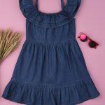 Φόρεμα Chambray Σκούρο Μπλε για Κορίτσι