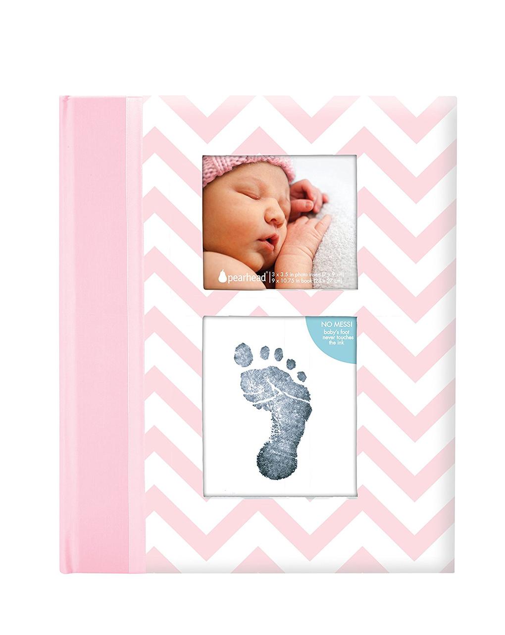 Pearhead Chevron Baby Memory Βιβλίο Ροζ