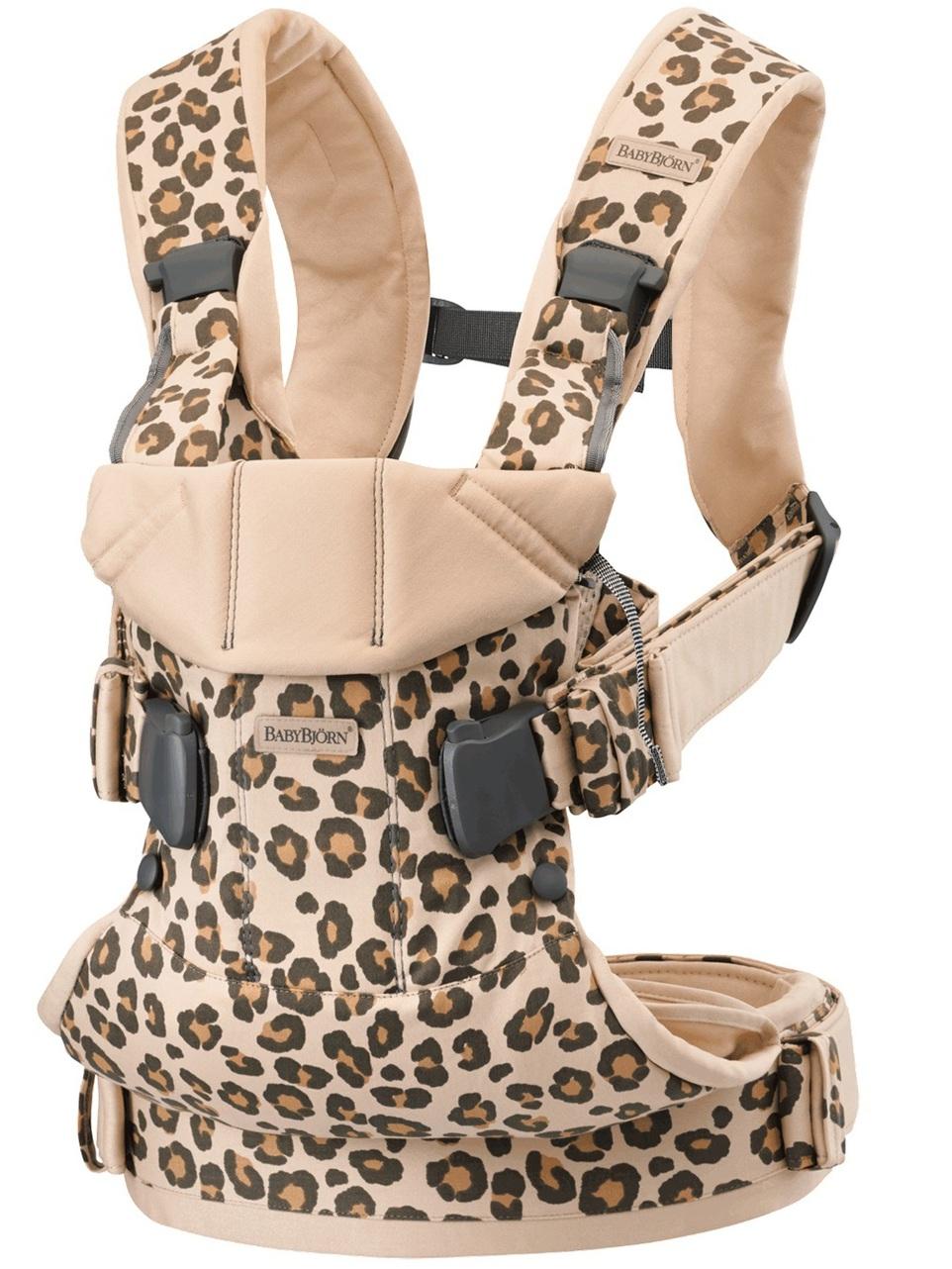 BabyBjorn Μάρσιπος One Cotton, Beige Leopard