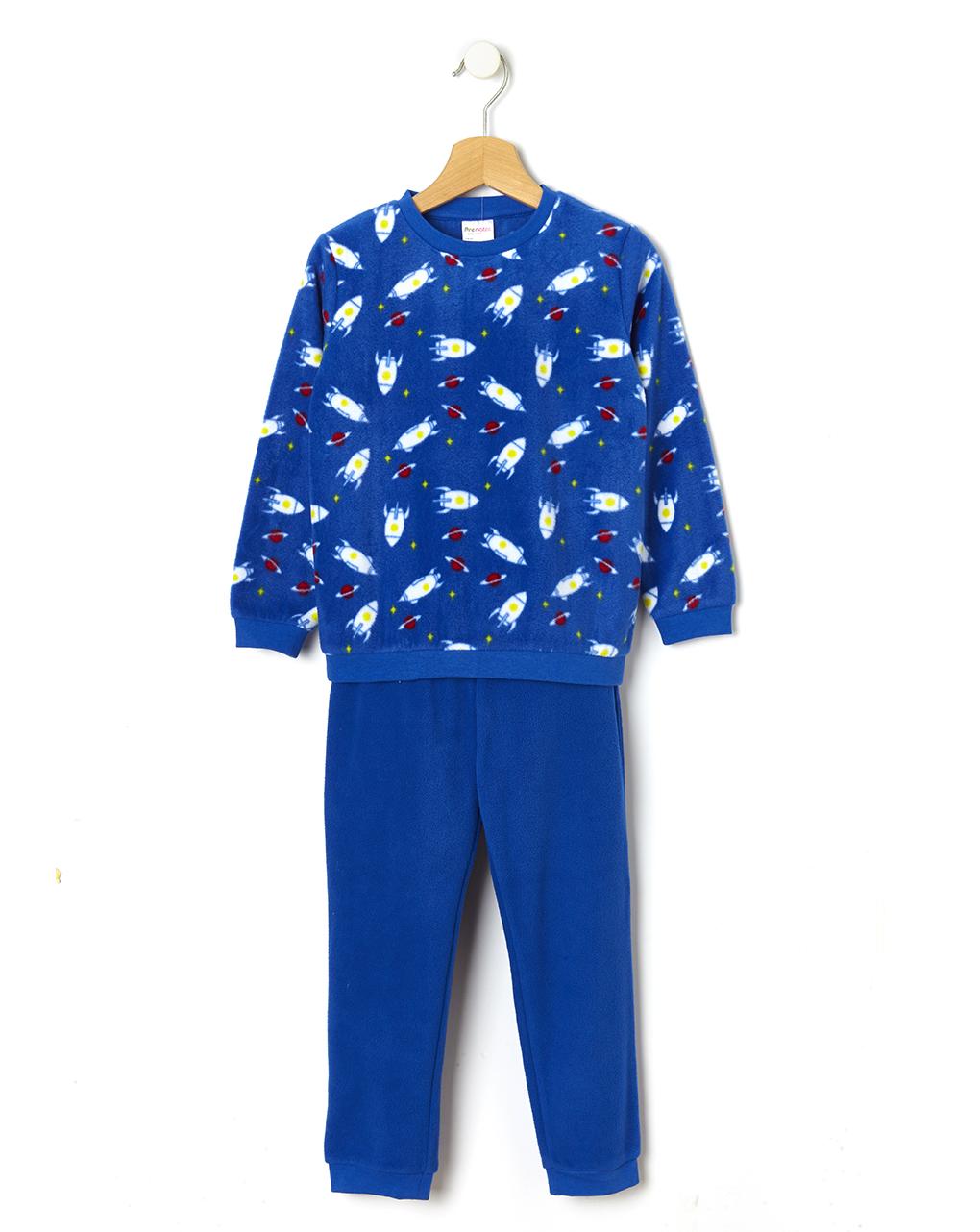 Πιτζάμα Fleece με Στάμπα Διάστημα για Αγόρι
