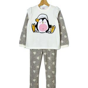 Πιτζάμα fleece με πιγκουίνο