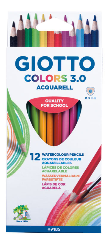 GIOTTO Ξυλομπογιές Ακουαρέλας giotto colors 3.0 12τεμ 000277100