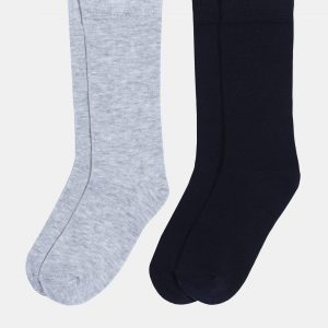 Κάλτσες Βαμβακερές Πακέτο Χ2 Γκρι - Μπλε για Αγόρι