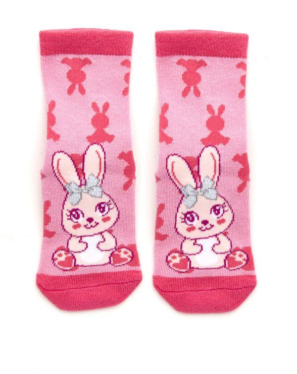 Κάλτσες Αντιολισθητικές Λαγουδάκι για Κορίτσι