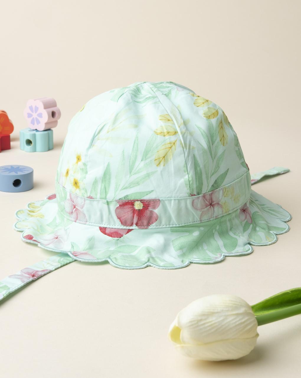 Καπέλο από Ποπλίνα Τρόπικαλ για Κορίτσι