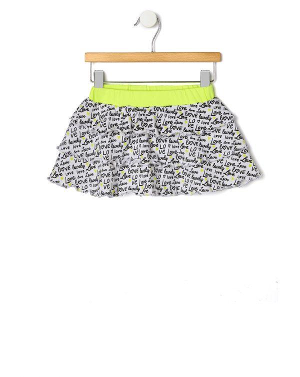 Φούστα Jersey με Στάμπα Κίτρινη για Κορίτσι