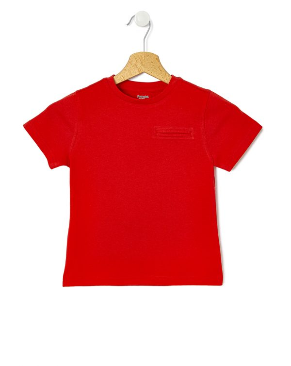 T-shirt με Κοντά Μανίκια Κόκκινο για Αγόρι