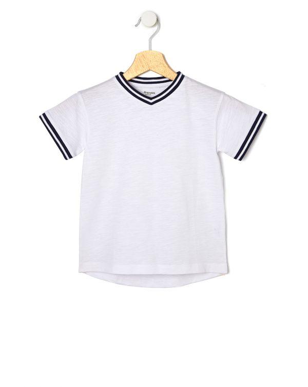 T-Shirt Basic Λευκό για Αγόρι