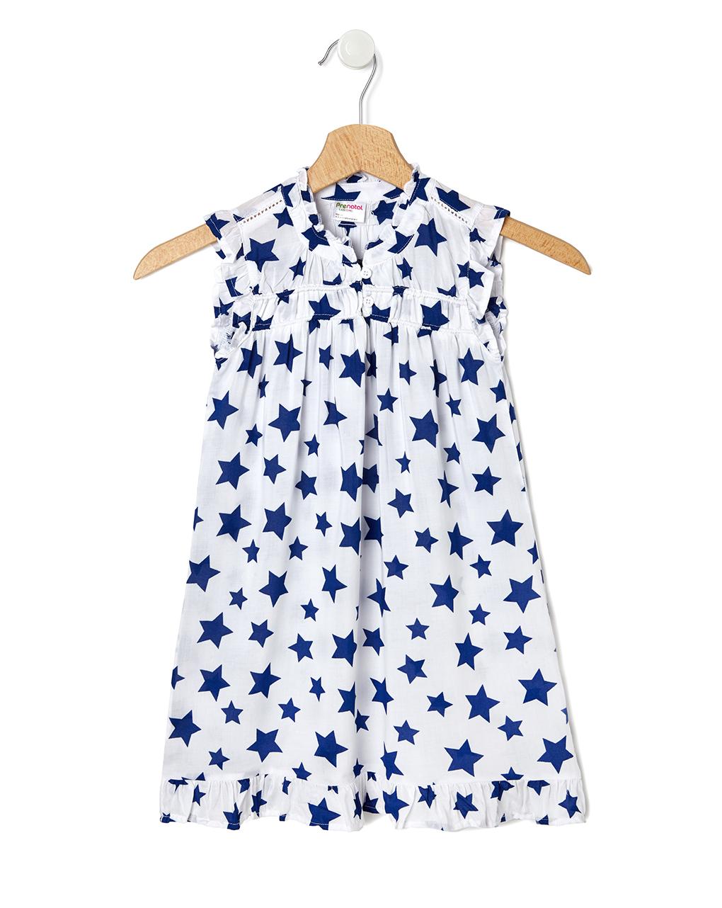 Φόρεμα Λευκό με Αστεράκια για Κορίτσι