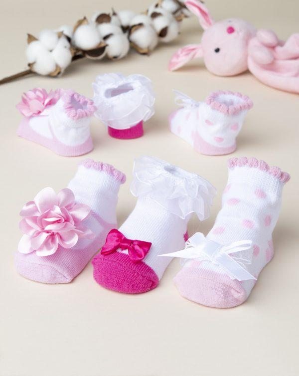 Κάλτσες Πακέτο x3 Ζευγάρια για Κορίτσι
