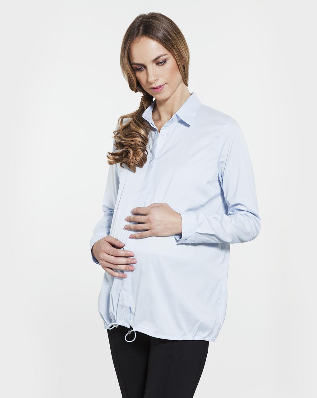 Γυναικείο Πουκάμισο Εγκυμοσύνης με Κορδόνι
