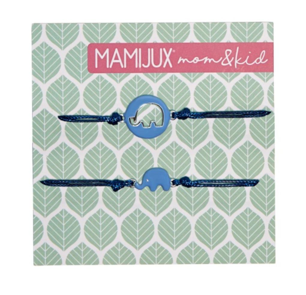 Mamijux  Βραχιόλι Mom & Kid Σχέδιο Μπλέ Ελεφαντάκι