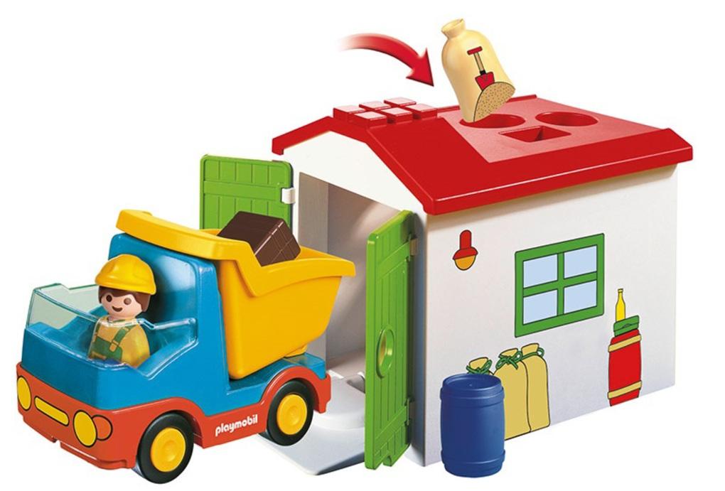 Playmobil 1.2.3 Φορτηγό με Γκαράζ 70184