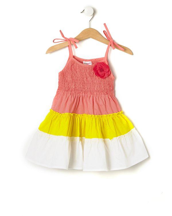 Φόρεμα Πολύχρωμο με Ιβίσκο για Κορίτσι