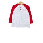 Μπλούζα Δίχρωμη Γκρι - Κόκκινο για Αγόρι