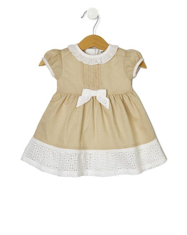 Φόρεμα Λινό με Δαντέλα για Κορίτσι