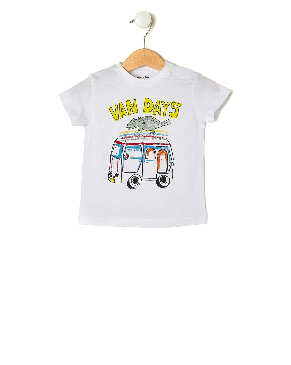 T-shirt Λευκό με Στάμπα Van days για Αγόρι