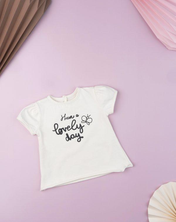T-shirt με Στάμπα για Κορίτσι