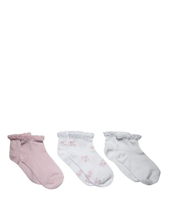 Κάλτσες Κοντές Πακέτο Χ3 για Κορίτσι