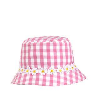 Καπέλο Καρό με Μαργαρίτες για Κορίτσι