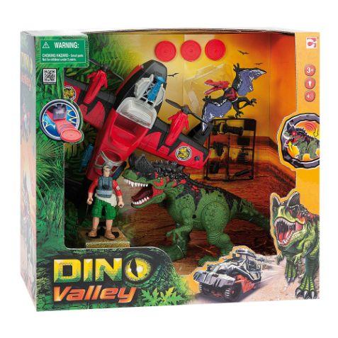 Dino Valley playset aereo