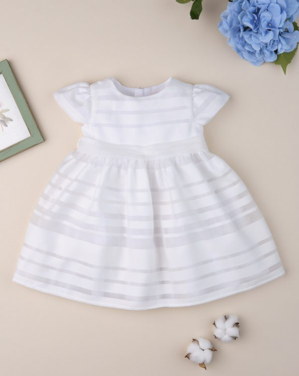 Φόρεμα Λευκό με Τούλι για Κορίτσι