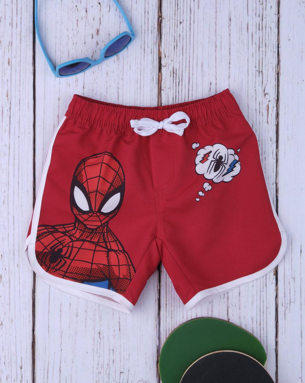 Μαγιό Boxer Κόκκινο με Στάμπα Spiderman για Αγόρι