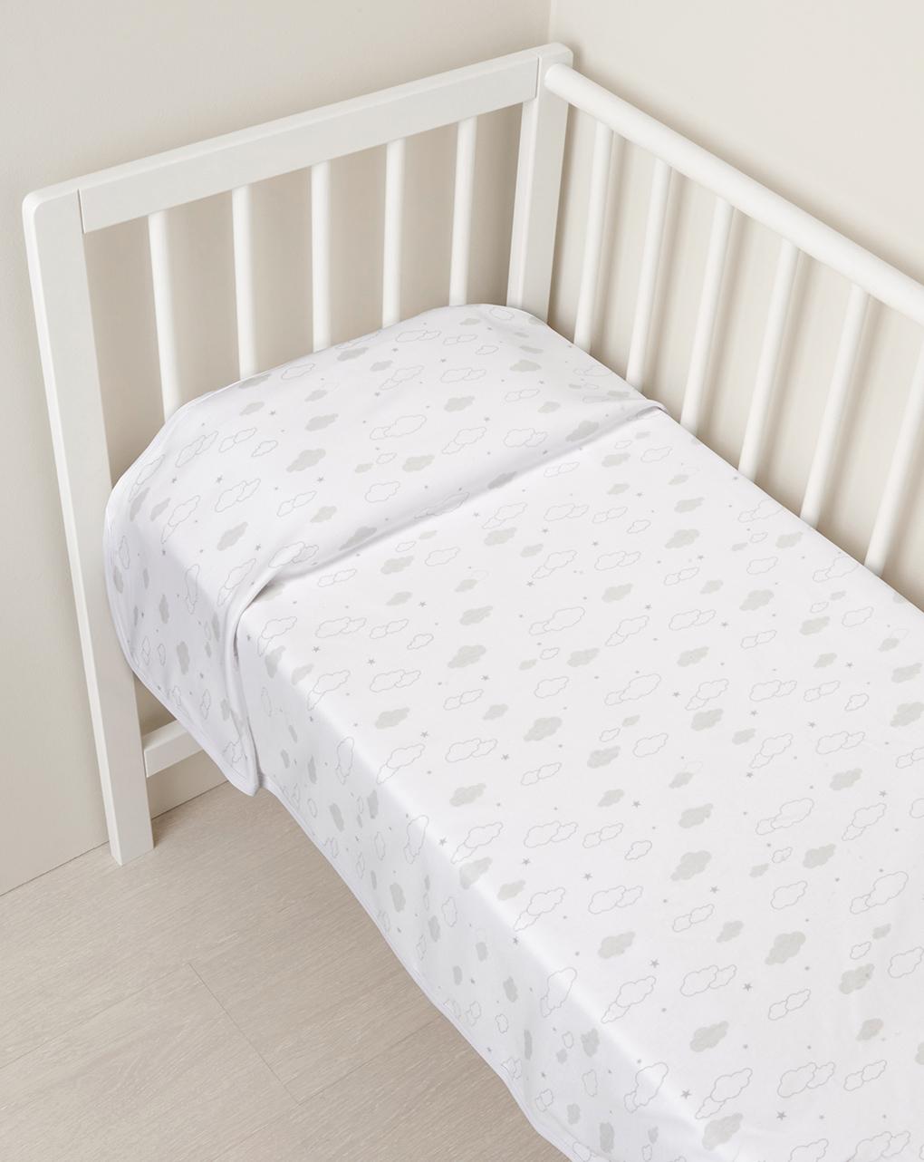 Κουβέρτα με Σύννεφα Γκρι Unisex - one size