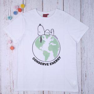T-shirt Λευκό Snoopy για τον Μπαμπά