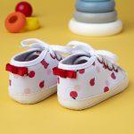 Βρεφικά Παπούτσια Αγκαλιάς Twill με Στάμπα για Κορίτσι