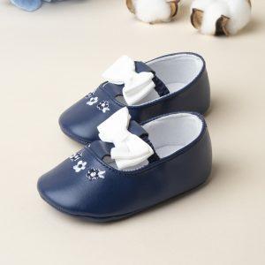 Βρεφικά Παπούτσια Αγκαλιάς Μπαλαρίνες με Φιόγκο για Κορίτσι