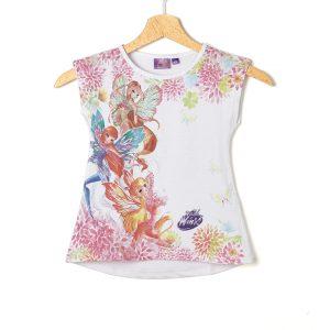 Αμάνικο Μπλουζάκι Λευκό Winx για Κορίτσι