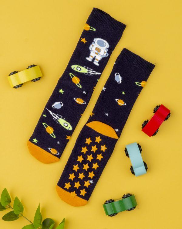 Κάλτσες Αντιολισθητικές Διάστημα για Αγόρι
