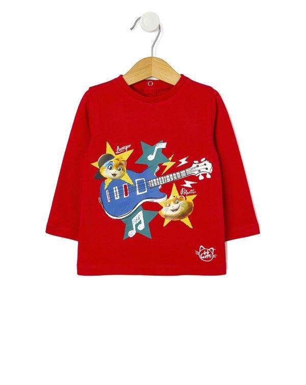 Μπλούζα Κόκκινη 44 Γάτες για Αγόρι