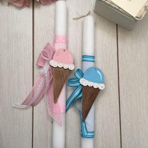 La joie Λαμπάδα  Παγωτό Ροζ  5777