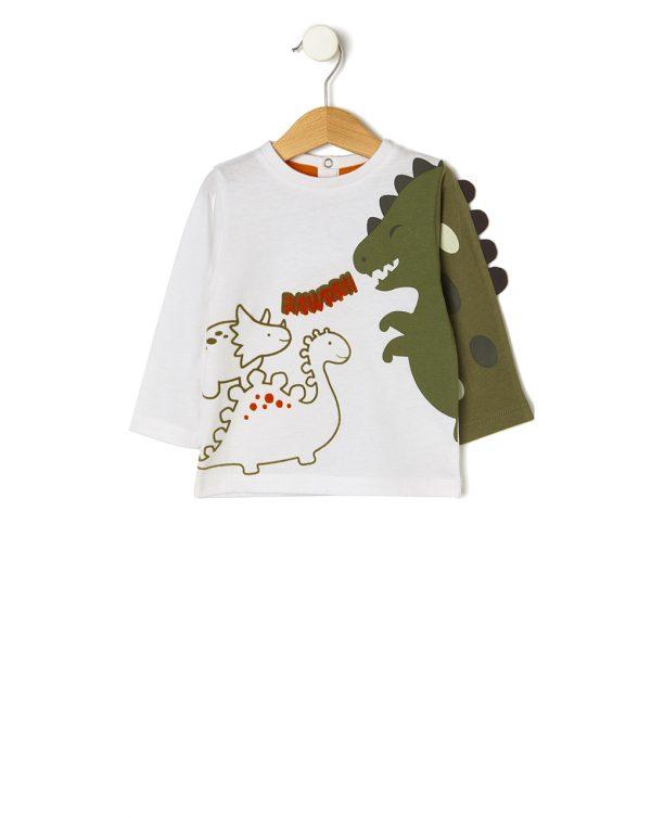 Μπλούζα με Στάμπα Δεινόσαυρους για Αγόρι