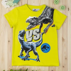 T-shirt Βαμβακερό Lime Jurassic για Αγόρι
