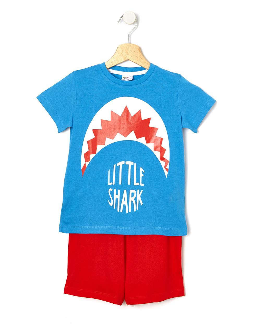 Πιτζάμα Jersey με Στάμπα Καρχαρία για Αγόρι