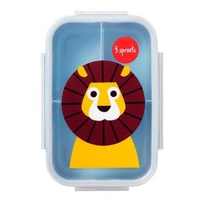 3Sprouts Φαγητοδοχείο με Καπάκι Lion