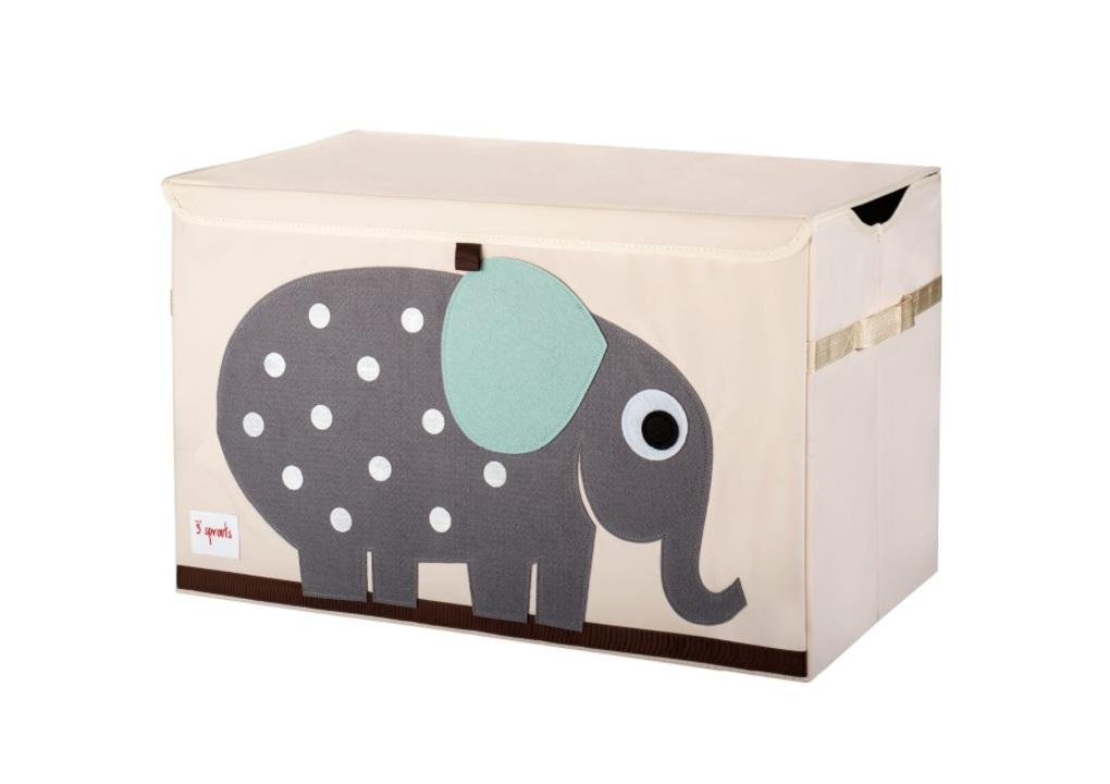 3Sprouts Καλάθι Για Παιχνίδια Με Καπάκι-Elephant