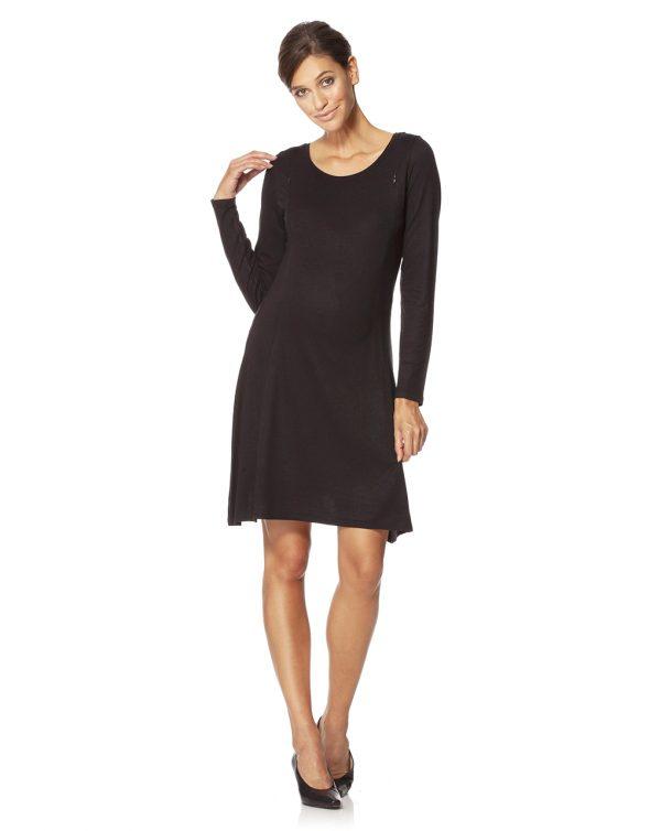 Γυναικείο Φόρεμα Θηλασμού Μαύρο